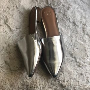 A New Day Silver Metallic Mules
